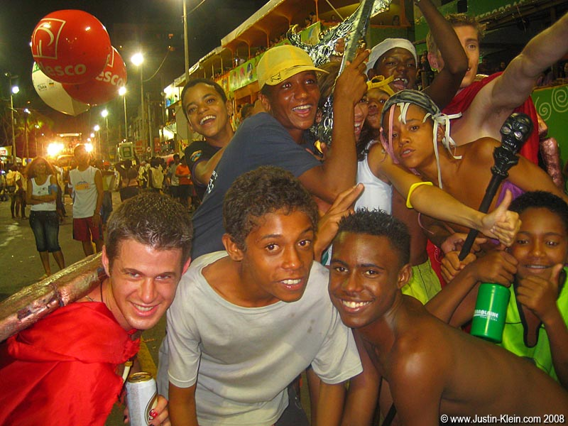 Partying with the locals at Carnaval in Salvador, Brazil.