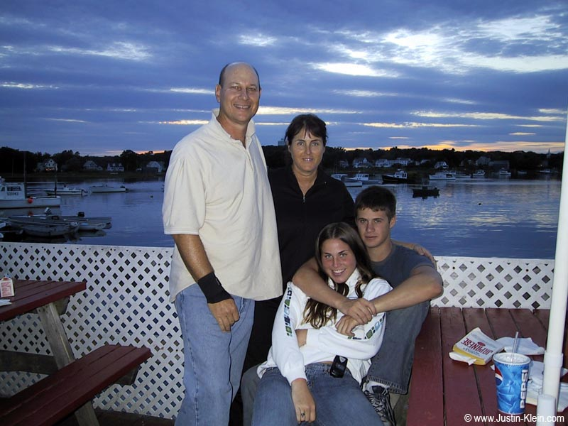 My stepdad, mom, sister and I in Kennebunkport, Maine (2003).