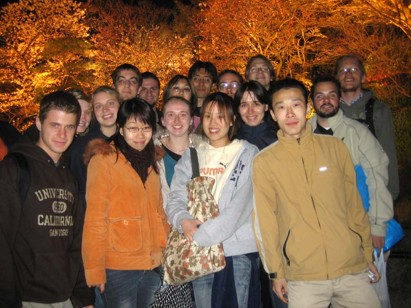 This is the crew we took with us to Kiyomizu.  From left to right, Me, Jennifer, Lori, Keir, Heidi, J, Heather, Ami, Harrison, Beriah, Dylan, forgot, Bjorn, forgot, Alex, and Axel.