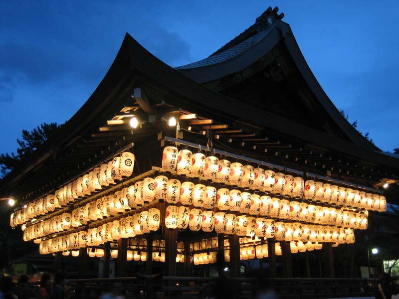 A very very long exposure of Yasaka Jinja