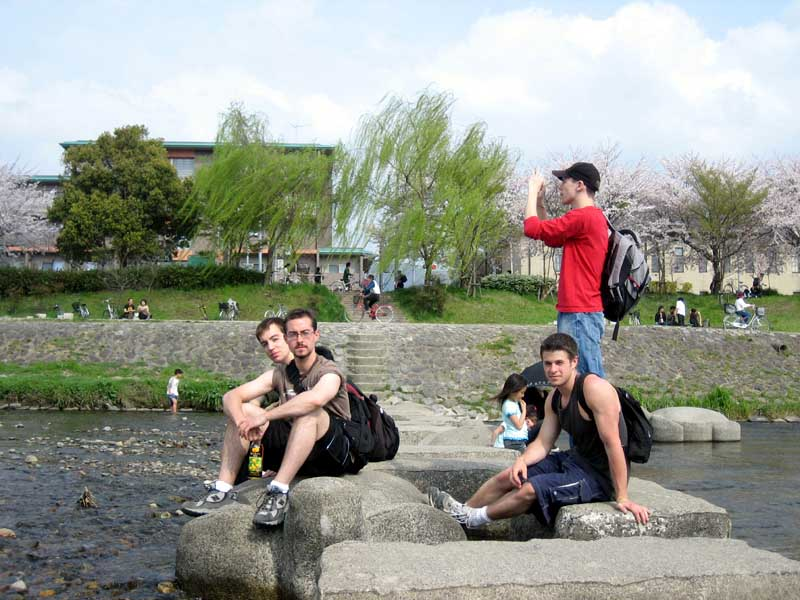 The YHM crew doin some hanami last week.  Left-to-right: Keir, Dylan, Me, Stuart.