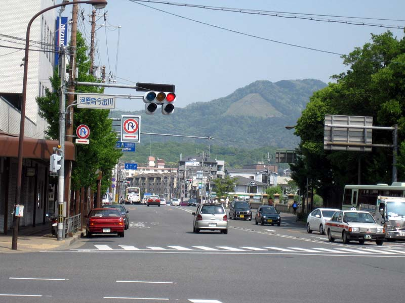 "Daimonji, with the kanji for ""big"" (大, pronounced dai) visible from the streets of Kyoto"