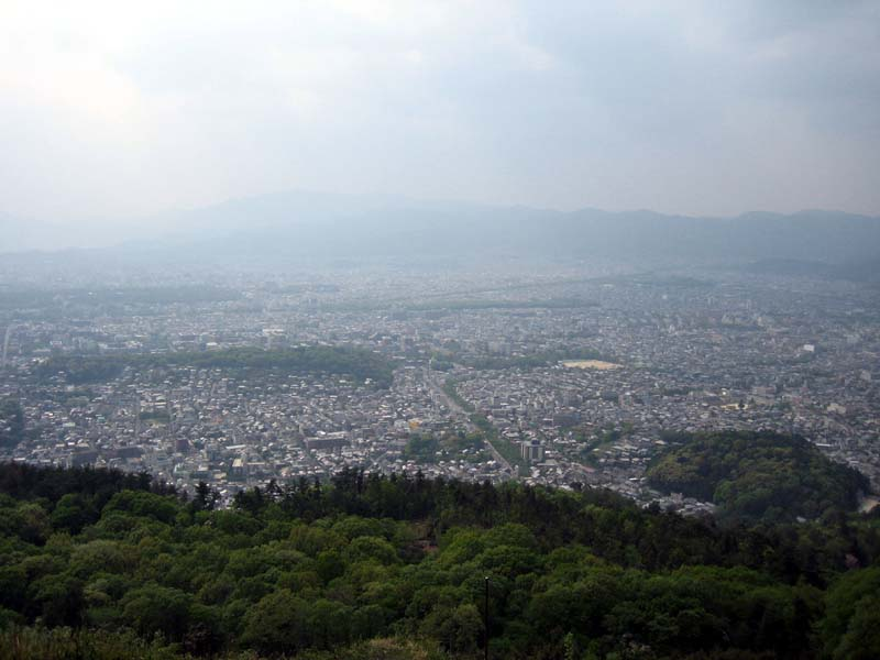 The view of Kyoto from the peak of Daimonji.  Unfortunately it got a bit cloudy by the time I reached the top, but I wanted to throw this picture in just so you could see how high it was.