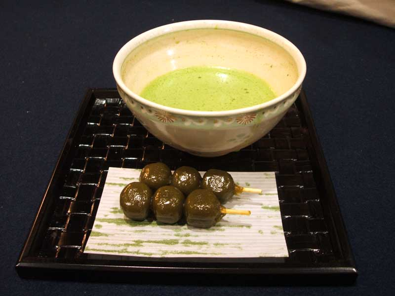 Matcha and Dango.  Perfect.