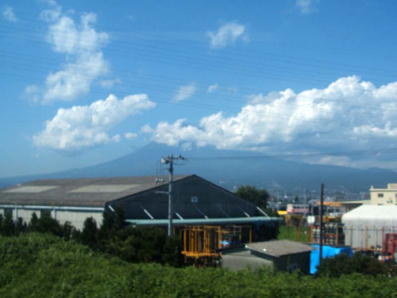 The mountain off in the distance as we circle around on the way to Tokyo