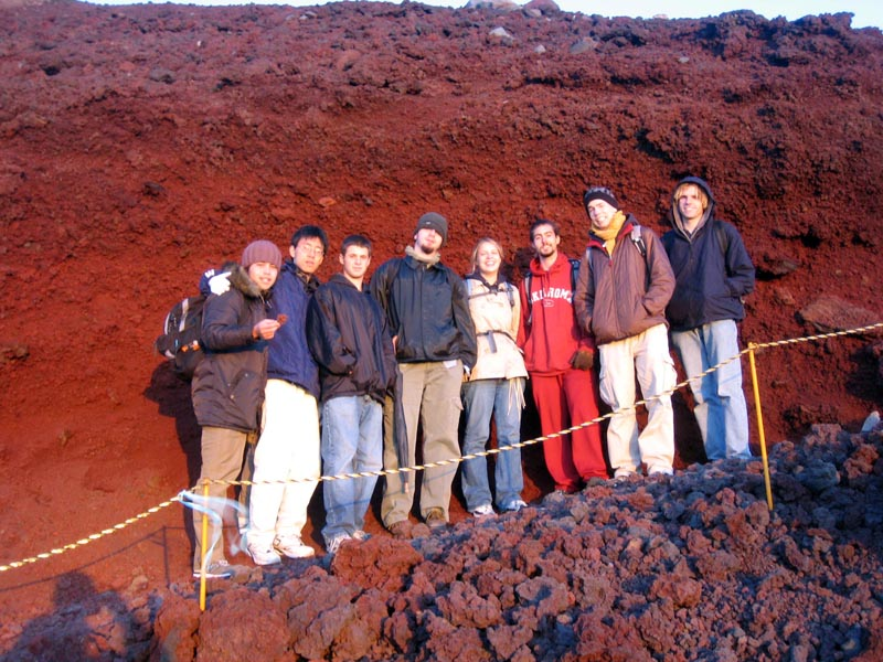 Red volcanic rock