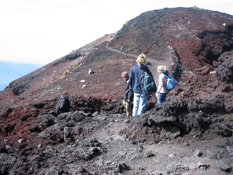 The path around the crater