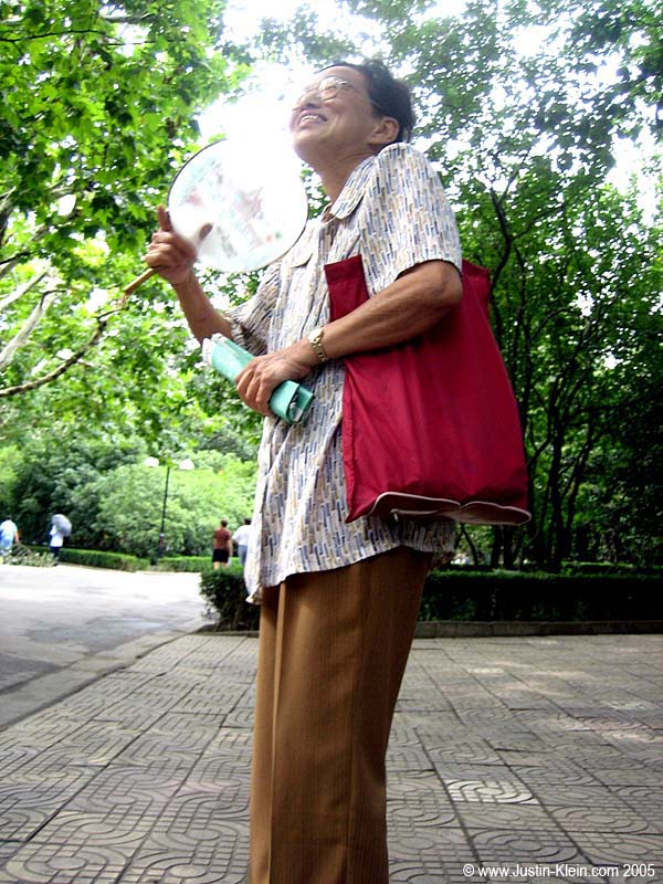 The little old woman who sidled up to us as we were resting on a park bench