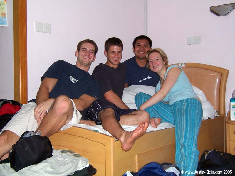 Our hostel roomates