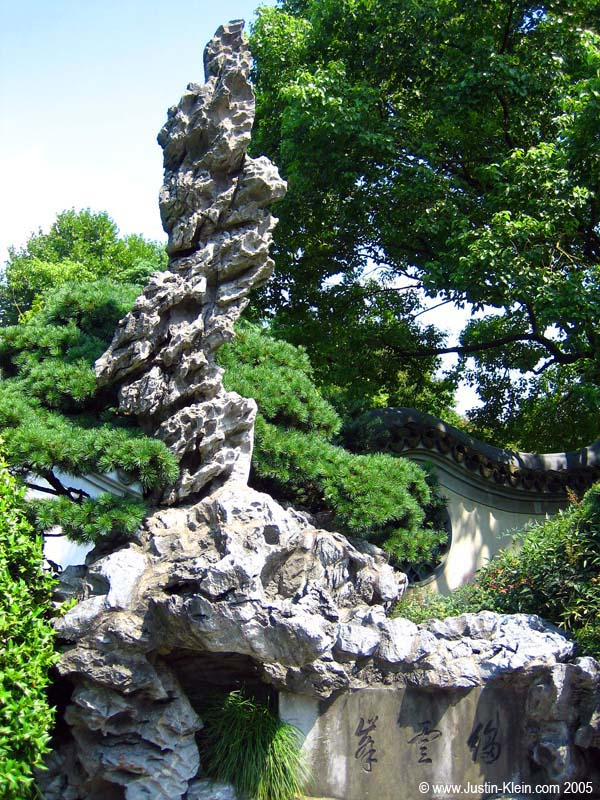 A very interesting rock in a garden in Hang Zhou.