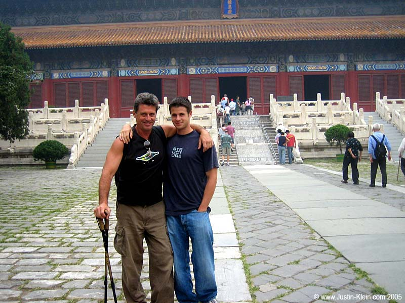 My dad and I reunited at last…at the Ming Tombs in Beijing