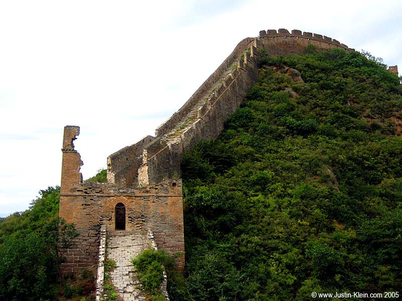 A not-so-well preserved guard tower on the Great Wall
