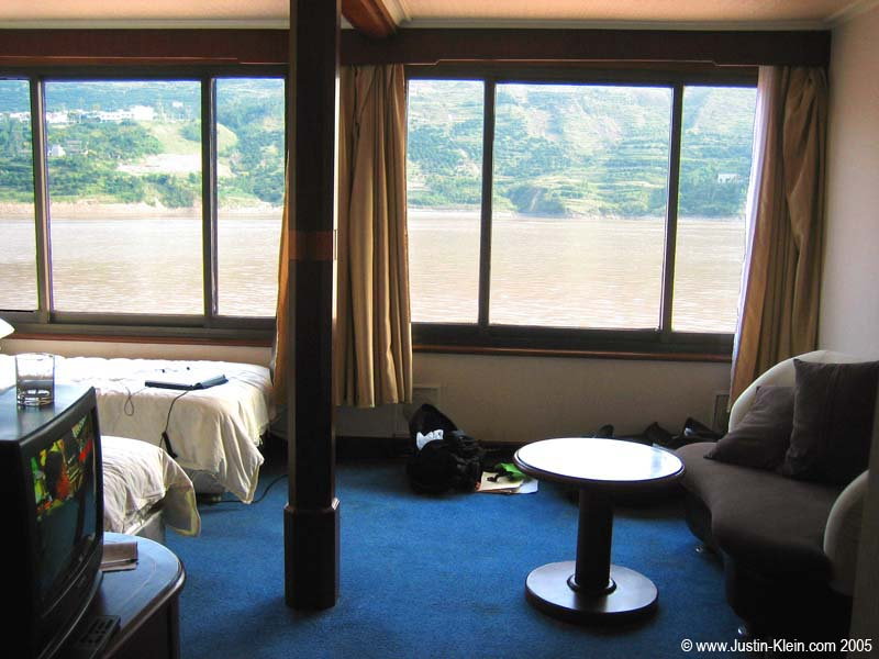 A suite on the boat just for us.