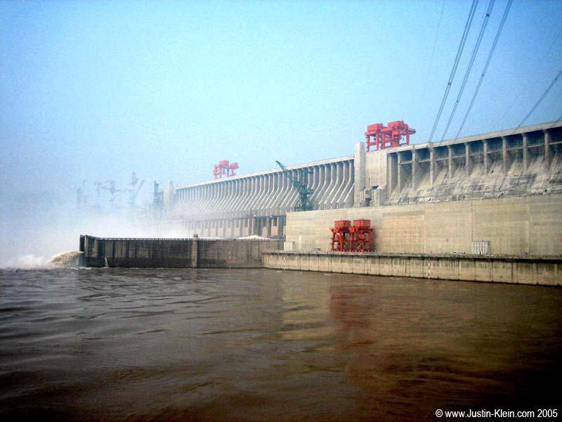 One portion of the enormous Yangtze Dam