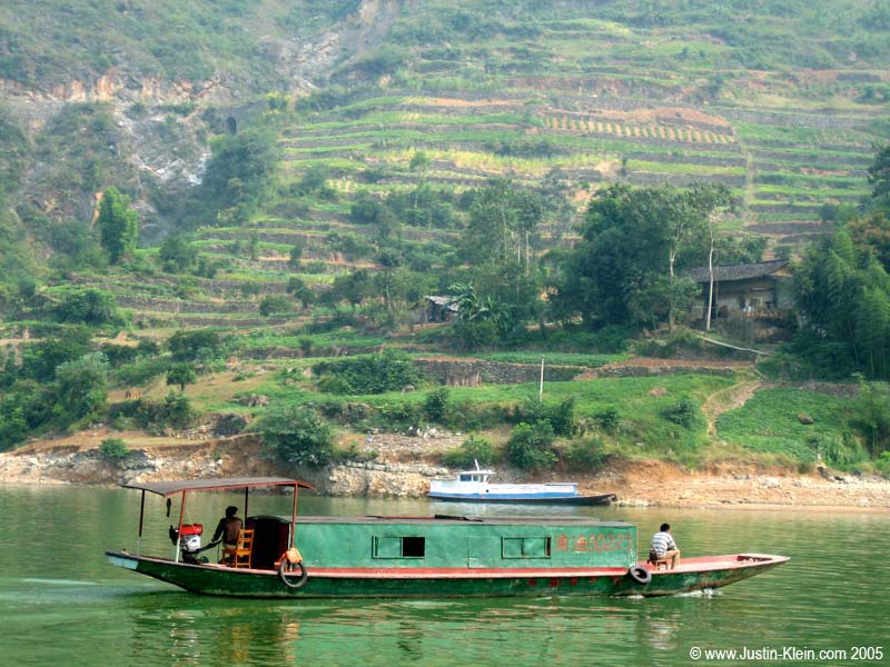 Cruisin' down the Yangtze.