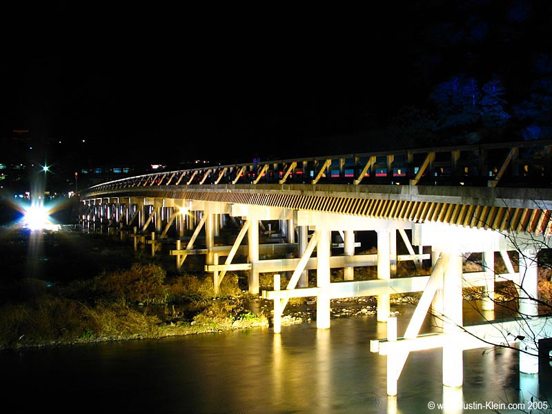 The light-up in Arashiyama.  And I thought that bridge looked cool in the daylight!