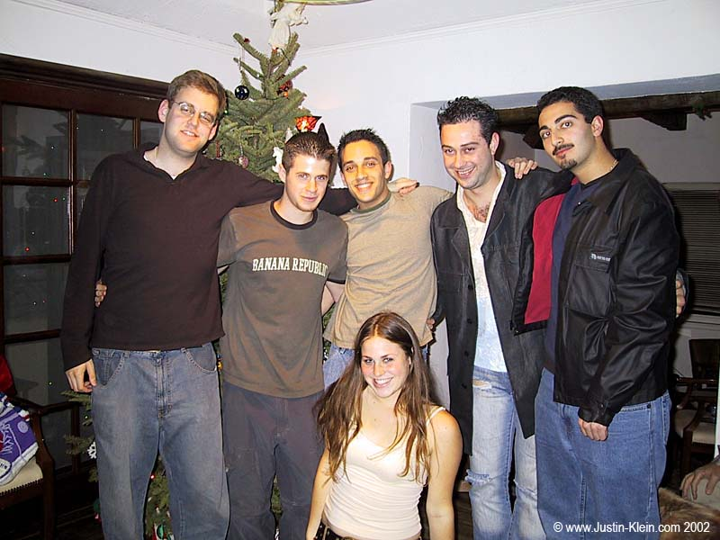 Me with some of my best friends and little sister at my mom's house for Christmas in 2002.  Noz, me, Jeff, Gary, Shahin, and Julia.