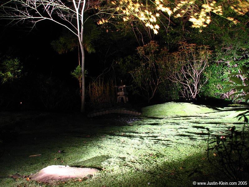 While we're on the topic of cool night shots…a garden in Kyoto under a floodlight