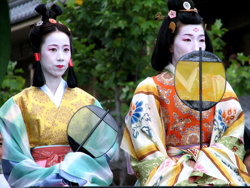 Two women in the Jidai Matsuri – Festival of the Ages.