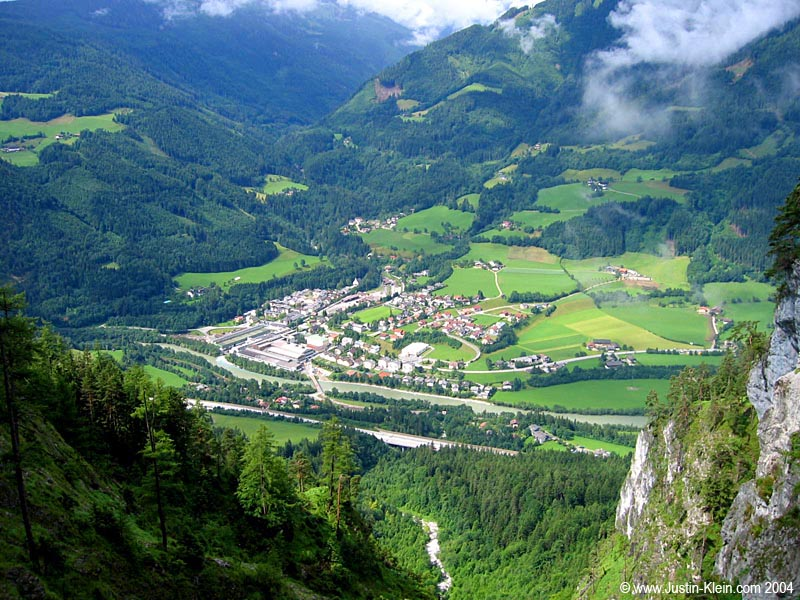 A beautiful little town called Werfen, nestled in the Austrian Alps.