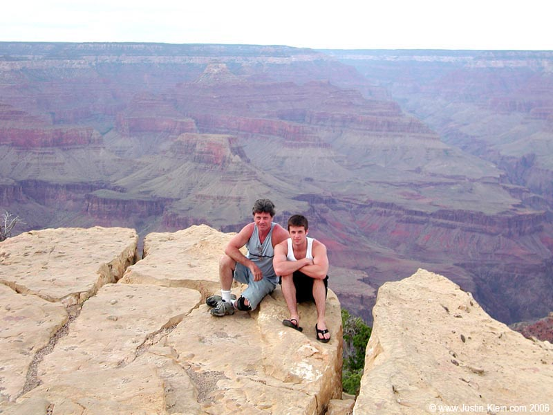 My dad and I at the Grand Canyon, 2006 (age 24)