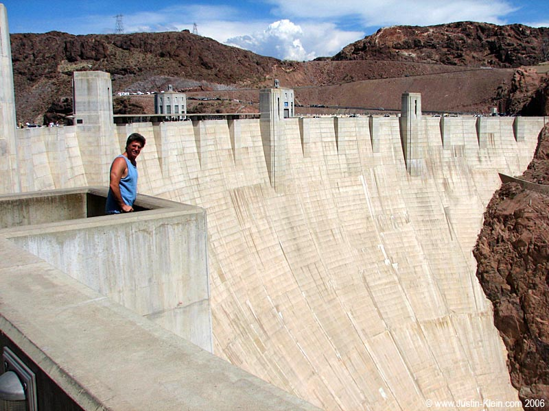 My old man near the very unspectacular Hoover Dam.