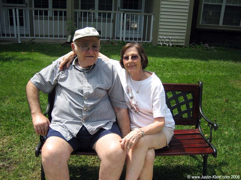 Pops and Grandma…I call my dad's parents Bubbi and Papa (Don't laugh!)