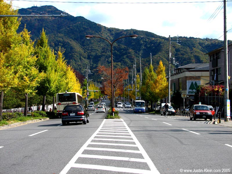 A main street just North of Kyoto.