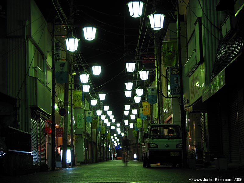 "Ever seen the anime ""Ninja Scroll?""  This is present-day Shimoda Village at midnight."