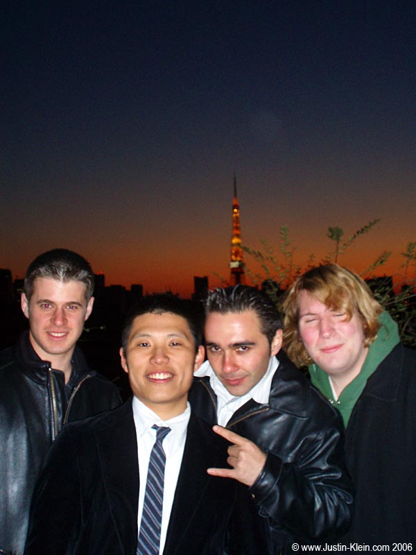 The first light of 2007 with my new buddies: Jing-Jing, Eli, and Dan.