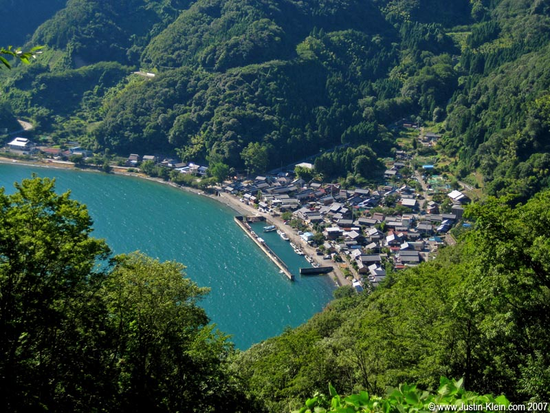 A little fishing village nestled on the Northern coast of Biwako.