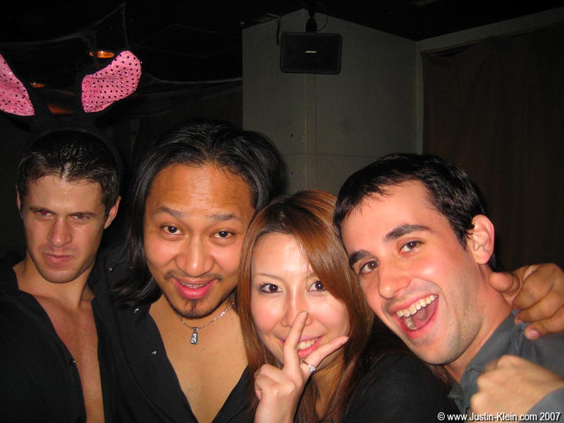 Nikki's Bar with Nikki (unmasked) and Matt.  I'm not sure where those bunny ears came from, in case you're wondering…