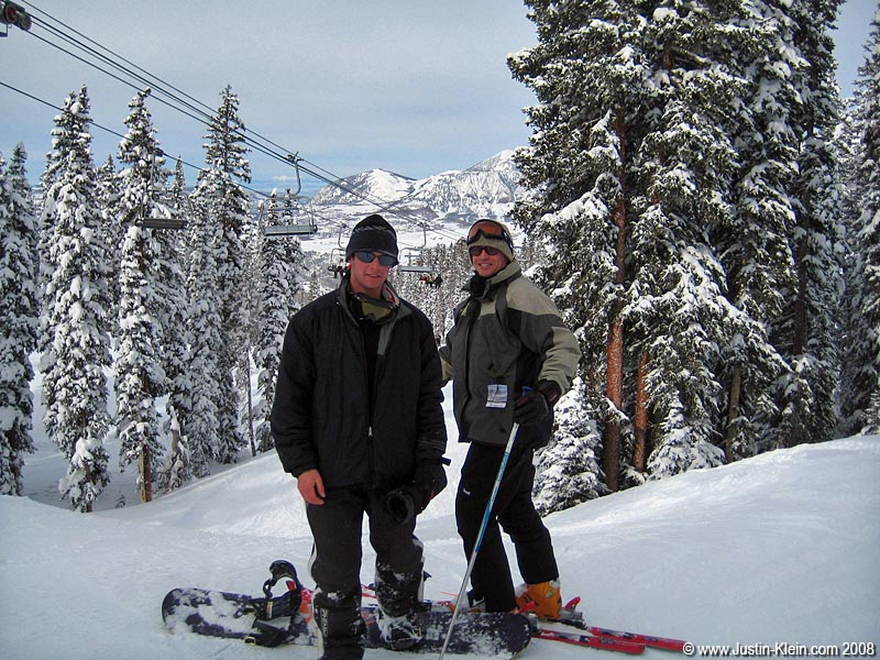 My dad and I…skiing!?