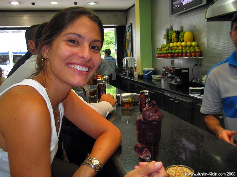 Silvia having some fantastic Açaí