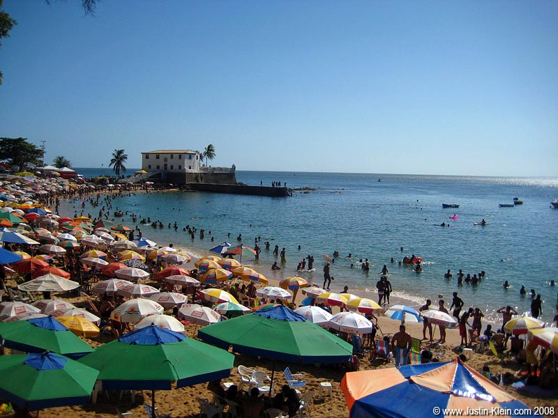 The beach in Salvador