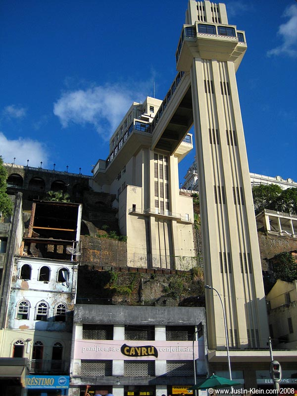 Back in the Pelourinho, a massive elevator takes you from the upper city to the lower city. For the always reasonable price of 5 centavos!