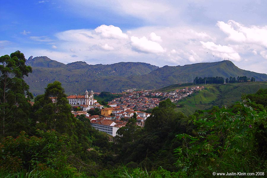 Arriving in Ouro Preto, the perfectly picturesque colonial mountain town.