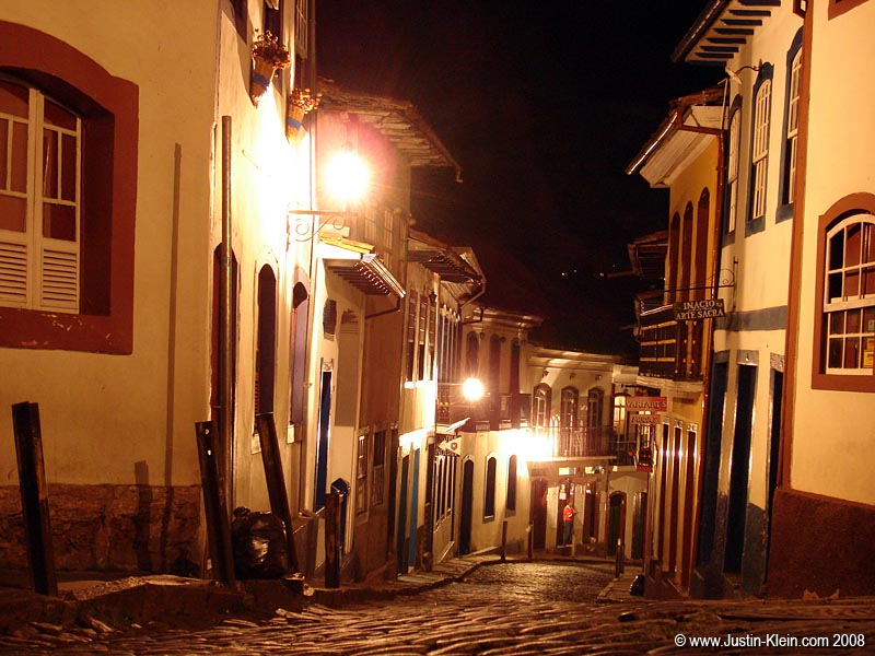 The streets of Ouro Preto.