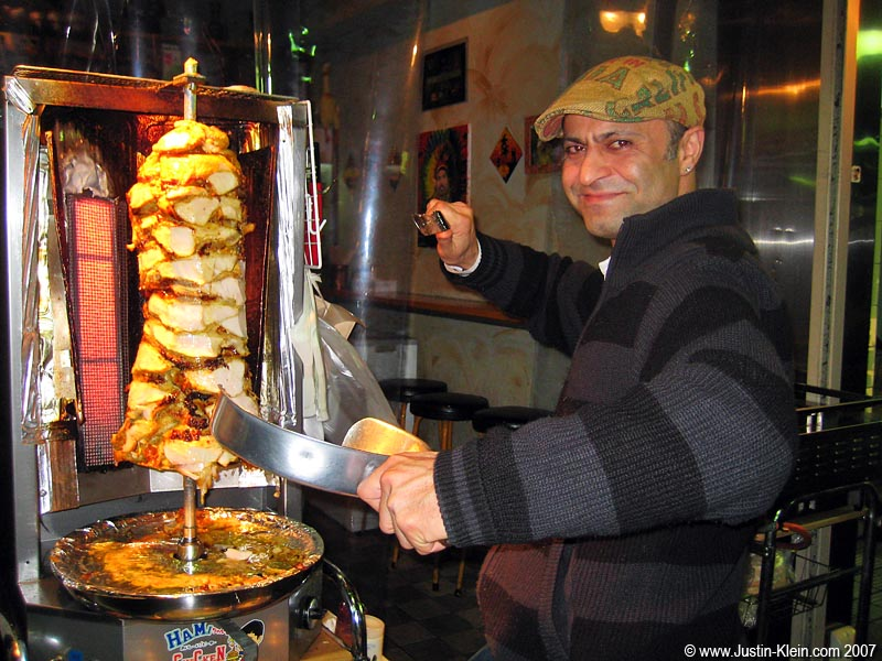 Serving up one last Hamid Kabab, my favorite late-night snack on Kiyamachi.