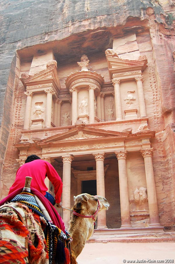 The magnificent Treasury at Petra…one of the Seven Wonders of the New World.