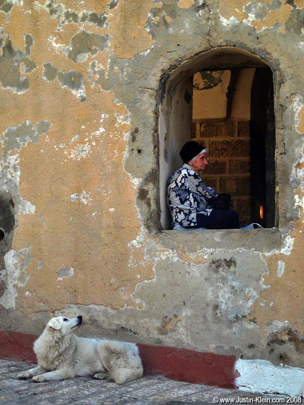 An old woman in Jaffa.