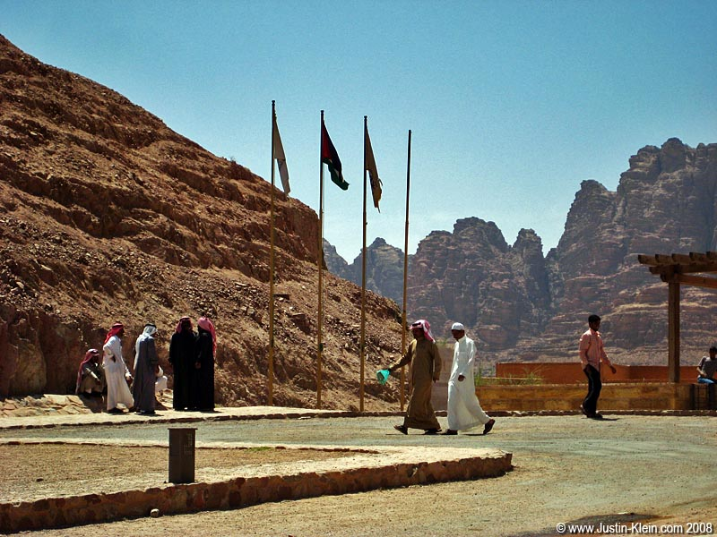 At the gateway to Wadi Rum.