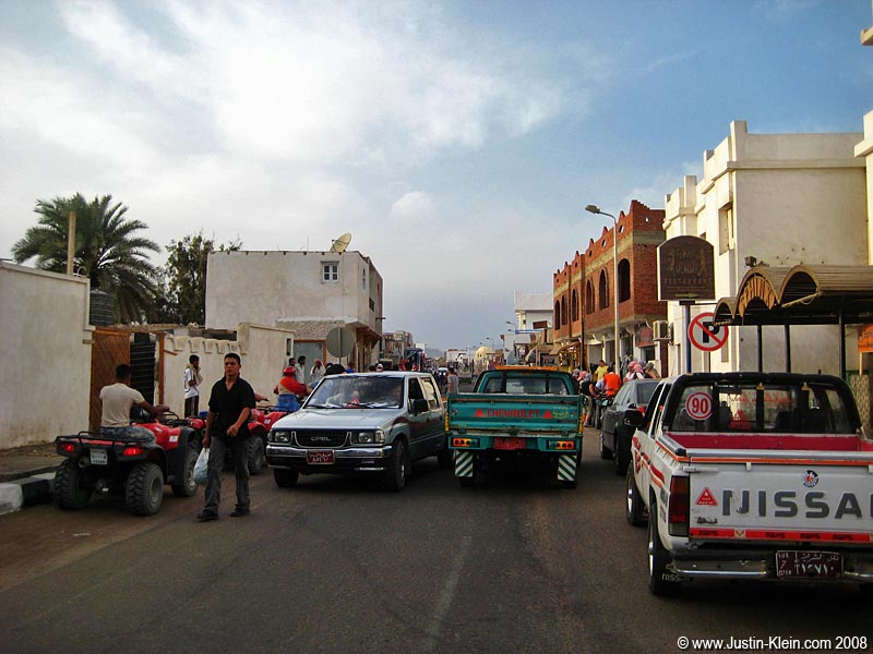 The main street through Dahab.
