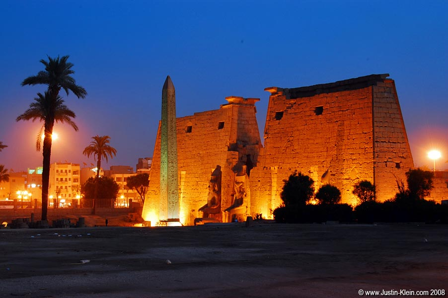 Luxor Temple.  It looks just like the Luxor Hotel and Casino in Las Vegas!  …Except it's more than 3,000 years old.