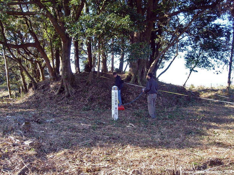 Dean and I surveying a burial chamber in Miyazaki, Japan (2006)