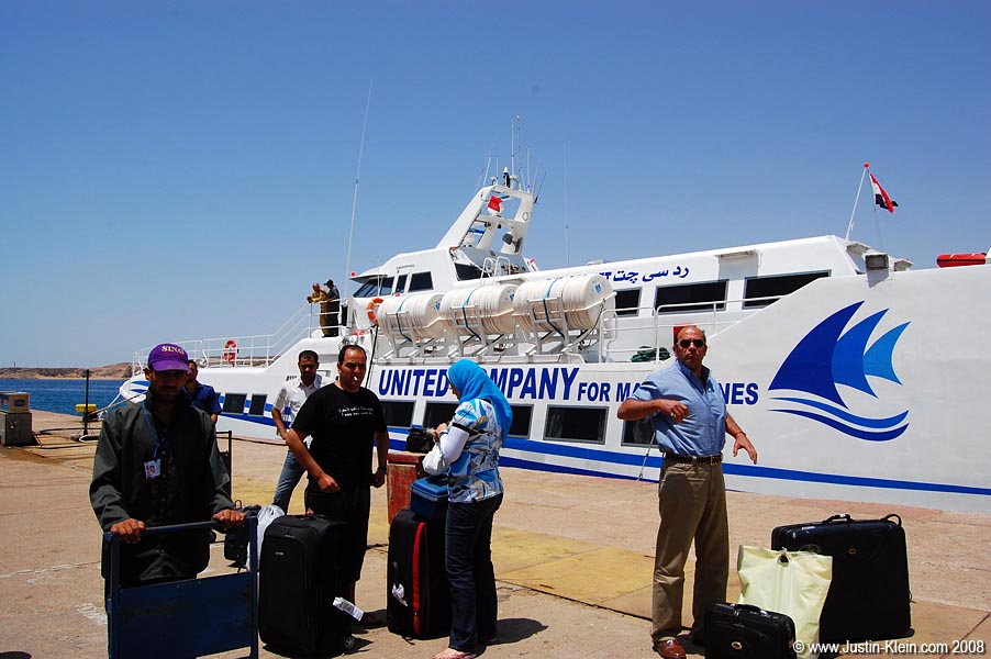 The jetboat from Hurghada to Sharm El'Sheikh.