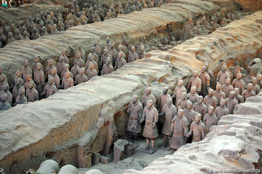 The famous Terracotta Army.  It&#8217;s pretty damn crazy when you really think about it&#8230;And unlike the Great Wall or the Pyramids of Egypt, which could&#8217;ve been built by anyone capable of laying a brick, this momentous accomplishment required thousands of man-hours by <i>skilled craftsmen</i>.