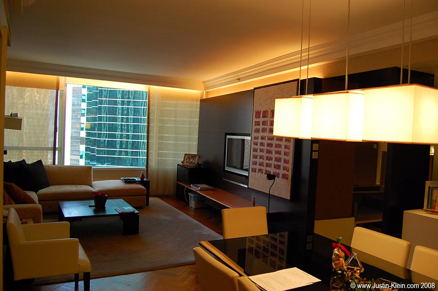 The livingroom.  Keep in mind the premium of space on Hong Kong Island – comparable (probably) to Tokyo or New York.  My previous lodging in Kowloon was about the size of a shoebox.