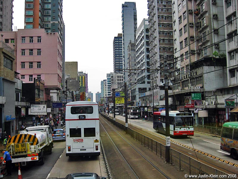Pulling into downtown Yuen Long.