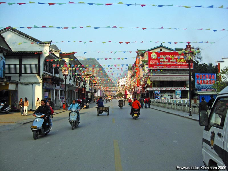 Once you make your way off of Xi Jie – the heavy tourist area – and onto the main throughfares, Yangshuo begins feeling a bit more like the rest of China.  But it still has a charm unlike I found anywhere else on the mainland.